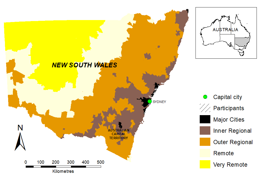 NSW remoteness by postcode