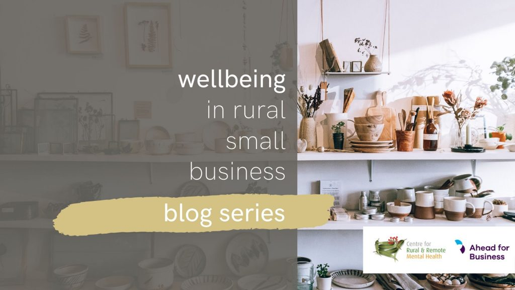 Title card for small business wellbeing blog series