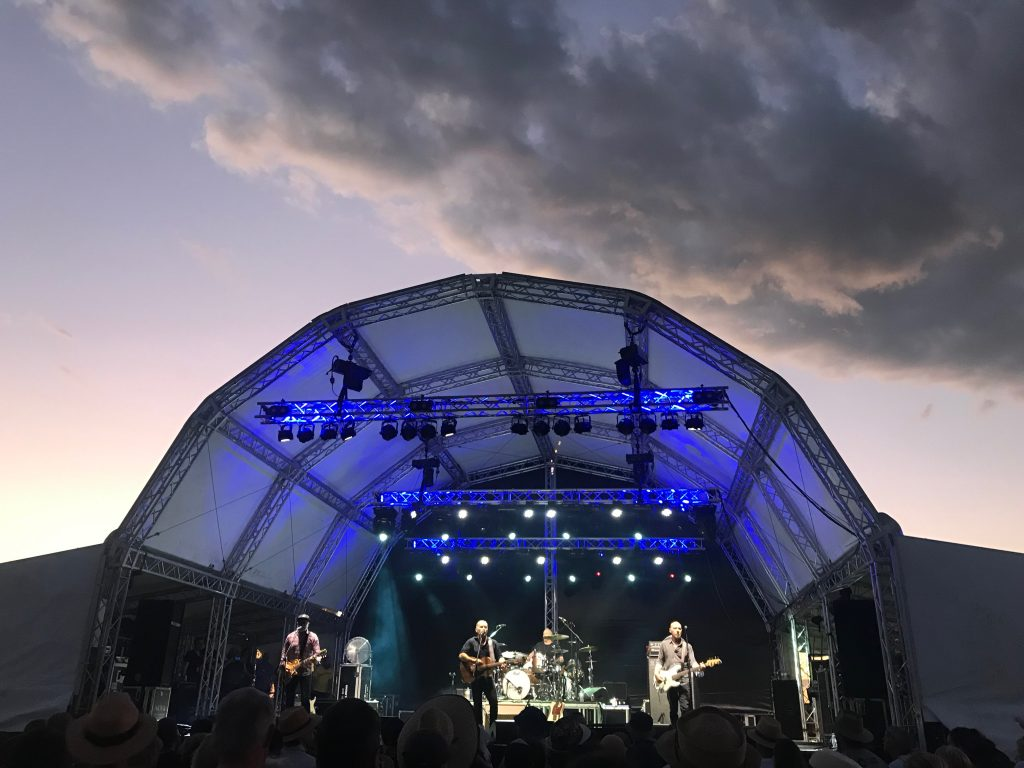 Mark Seymour and The Undertow performing at the Band Together Farmers concert